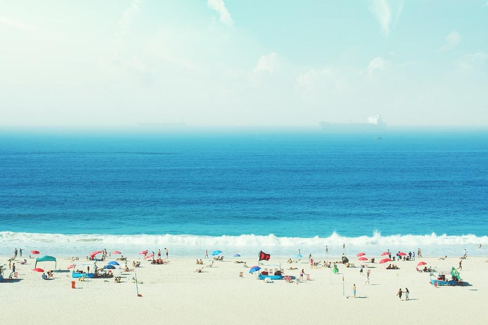 Синий пляж, Атлантика, Бразилия