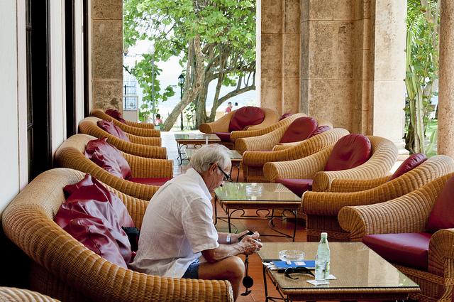 Лаунж зона отеля Nacional de Cuba